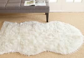 quality safavieh faux sheepskin rug fss115a sheep skin area rugs by