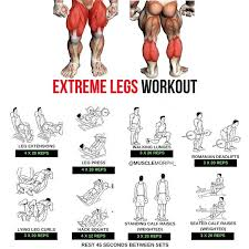 Extreme Legs Workout Step By Step Tutorial Gym Workouts