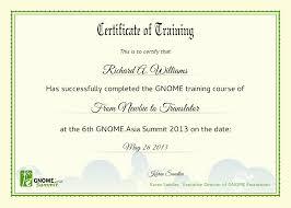Sample Training Certificate training certificates format Petitingoutpolyco 1