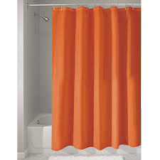 interdesign poly bath curtains long shower curtain made of polyester orange