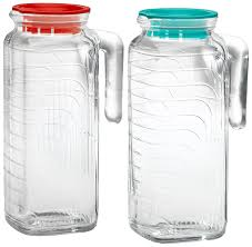 amazoncom  bormioli rocco gelo piece glass pitcher set with