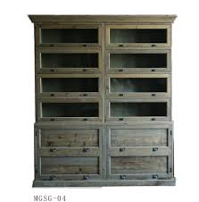 french wood antique style vintage wooden classic oak bookcases with glass doors for bookcase manufacturer from china 101728717