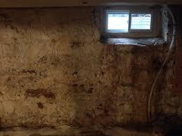200 year old stone basement walls