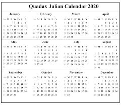 Free Printable April Calendar 2020 Free Printable Julian Calendar 2020 Template Printable