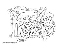 Coloring Pages With Words Swear Word Coloring Pages Dirty Words