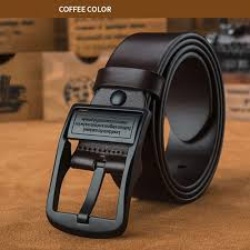 a brand name men s long belt genuine leather belt material 100 of italian cowhide genuine leather color black brown waist adjustment i cut it and am