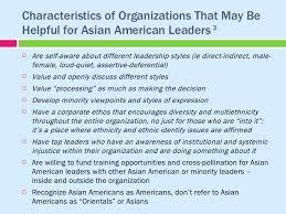 Characteristics of asian culture