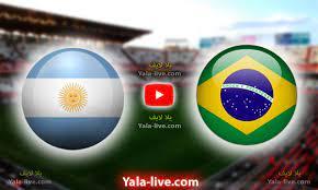 مشاهدة مباراة البرازيل والأرجنتين بث مباشر اليوم في تصفيات كأس العالم 2022  - Yalla Live
