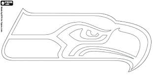 Seattle Seahawks Logo Coloring Page Pages Coloring Book
