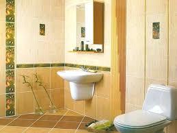 yellow tile bathroom bath wall designs tiled walls design ideas installing bathtub