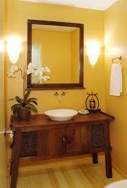 tropical bathroom lighting. Custom-crafted Vanity For The Warm, Tropical Powder Room [Design: Bathroom Lighting