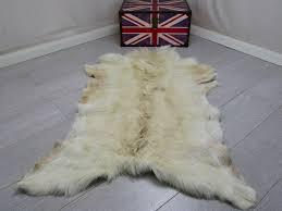 goat skin fur rug pelt hide leather 100 natural cowhide sheepskin