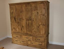 orchard triple wardrobe with drawers three over two drawers