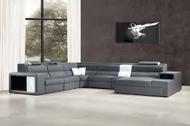 your bookmark products 2 682 00 polaris grey bonded leather sectional sofa