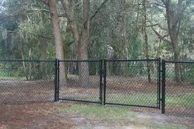 chain link fence double gate. Residential Chain Link Drive Gate Fence Double L