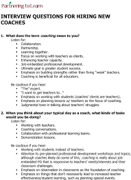 Interview Questions About Success Interview Questions For Hiring New Coaches Pdf