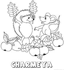 Charmeya Egel Naam Kleurplaat