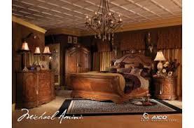 aico bedroom furniture. aico cortina 4pc sleigh bedroom set in honey walnut aico furniture