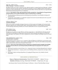 Resume Example Resume Objective For Executive Assistant Resume