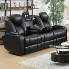 Black Leather Sectional Sofa With Recliner Furniture Loveseat Black Leather Reclining Sofa Reclining