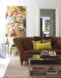rich accents of leather mustard yellows patternetals