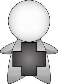 7月1日国民安全の日 安全マークと人型のイラスト無料ビジネスイラスト