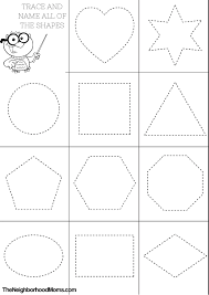 Small Picture Shapes Coloring Pages Printable The Neighborhood Moms