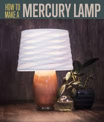 diy copper mercury glass lamp