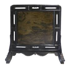 black laquer furniture. Qing 18th Century Chinese Black Lacquer Table Screen Inset With Stone For Sale Laquer Furniture .