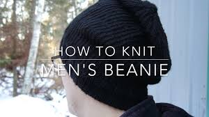 Mens Beanie Knitting Pattern Stunning How To Knit Men's Beanie YouTube