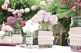 Creative Idea:White And Pink Flower Wedding Table Centerpieces With Tall  Clear Glass Vase On