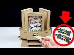 Cardboard Vending Machine Amazing How To Make Fidget Spinner Vending Machine Using Coins DIY