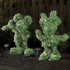 AMOS 20 LED Solar Powered Artificial Boxwood Buxus Bush Topiary Artificial Topiary Trees With Solar Lights