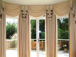 image of bay window curtain rod diy