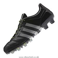black mens adidas ace 15 1 fg leather football boots top quality
