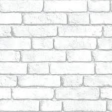 white brick wall wallpaper brick vinyl white wallpaper departments at feature wall in living