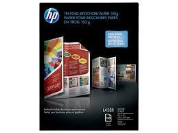 tri fold brochures hp laser glossy tri fold brochure paper 150 gsm 150 sht letter 8 5 x