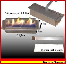 adjustable 1 liter stainless steel burner for gel and ethanol fireplaces