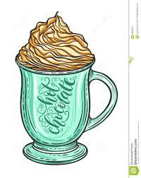 hot chocolate mug clipart. royalty-free vector hot chocolate mug clipart