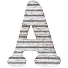 corrugated metal letter wall decor a