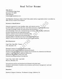 Bank Teller Resume Examples Awesome Bank Teller Resume Example For