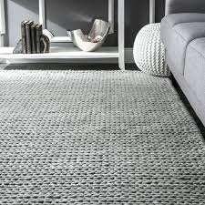 gray area rug woolen cable hand woven light gray area rug 8x10 yellow and gray area
