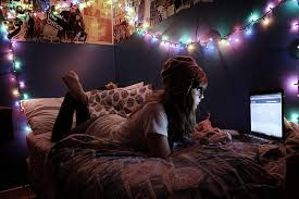 cool dorm lighting. dorm multicolored christmas lights cast cool lighting