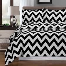 33 classy design black white duvet cover chevron combed cotton set reversible soft covers and striped