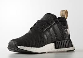 adidas shoes nmd black and white. adidas nmd r1 metallic gold black white shoes nmd and