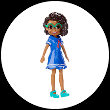 polly pocket doll with trendy outfit image