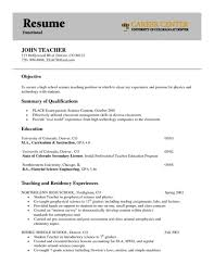 Sample Science Teacher Resume Science Teacher Resume Objective Sample Teaching Objectives For 1