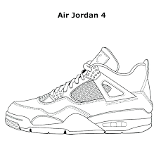 Jordan Sneaker Coloring Pages Sneaker Coloring Page Sneakers Pages