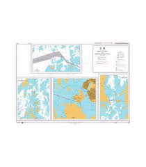 British Admiralty Nautical Chart 2612 Finland Gulf Of Bothnia Port Of Vaasa And Approach Channels