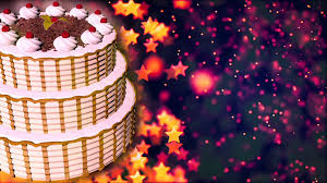 Happy Birthday Background Images Happy Birthday Cake Loopable Abstract Background Motion Background